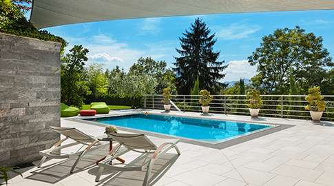outdoor living with pool img 1 - Creating an Outdoor Oasis, with the added luxury of your own private swimming pool