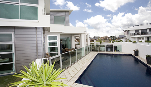 outdoor living with pool img - Creating an Outdoor Oasis, with the added luxury of your own private swimming pool