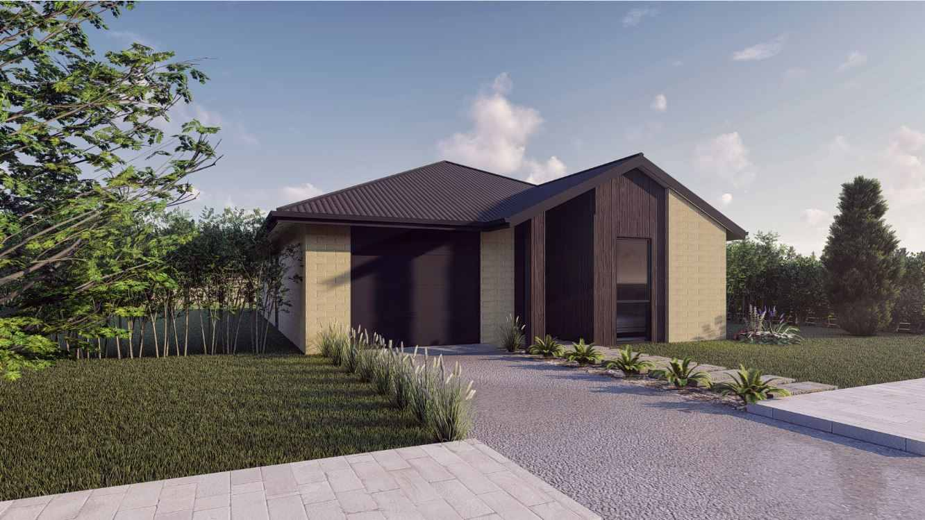 Fernside Front elevation 100 KB  - Choosing the Right Home Design for a Narrow Block