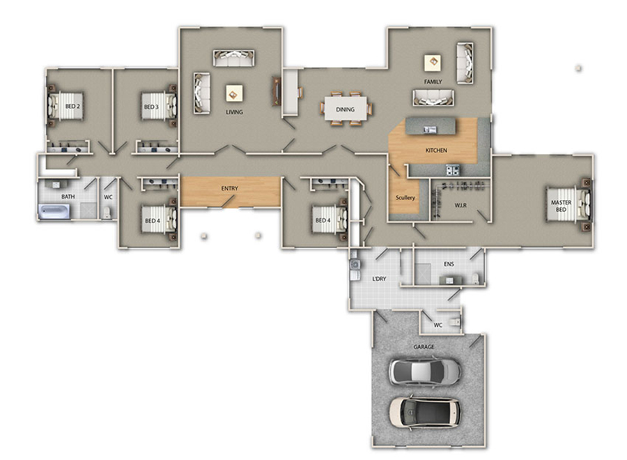 cambridge ground floor img - Choosing a Floorplan to Suit Your Family