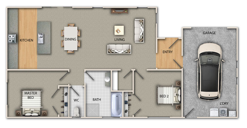 kirwee ground floor plan web - Head into Your New Home with Headstart and the Homestart Grant